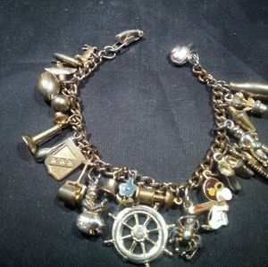 Vintage German charm bracelet 1940+